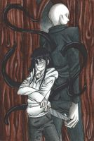 Request - Jeff and Slender by MionOfDeath