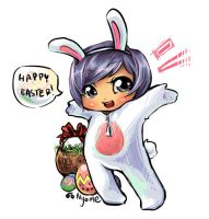 Gaia: Happy Easter by Nyome