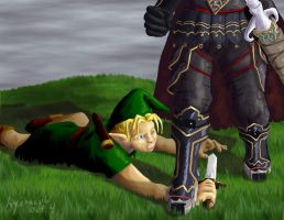 Link vs. Ganondorf - 4 by hyenacub