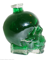 Glass Skull 1 - green by Fire-Fuel