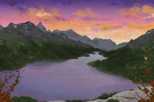 Mountainscape by kdols
