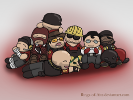 Sleepy TF2 Chibis by AustraliumSiren