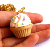Big Kawaii Cupcake Necklace by FatallyFeminine