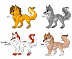Fox point adoptables 2 by NyamburaDawn