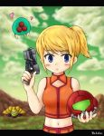 Samus with Baby in SR388 by Wakaba691