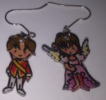 Cardcaptor Sakura earrings by Lovelyruthie