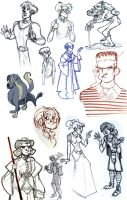 characters by Sally-Avernier