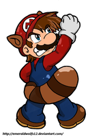 Super Mario Raccoon power up - Colored by MariobrosYaoiFan12
