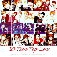 ICON SET : TEEN TOP by chazzief