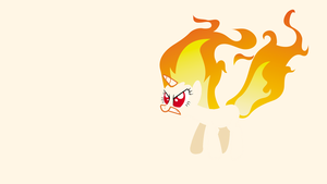 Twilight Sparkle Fire Minimalist Wallpaper by CHOCLatier07
