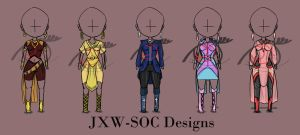 Girl Chibi Clothing Design Set [ONLY ONE LEFT] by JxW-SpiralofChaos