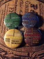 Hogwarts House Trait Buttons by xZ0MBiiEx