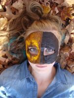 Faded Yellow and Black Mask by RileySell