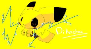 Pikachu in MS Paint by Chaomaster1