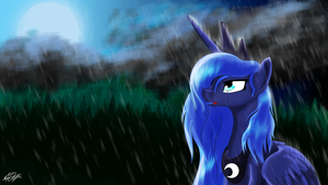 Lunar Rain by PlayfulPossum