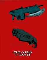 Gears of War- Lancer n Shotgun by lionessgirl2007