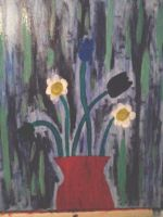 Flowers...first oil painting by FFgeek97116