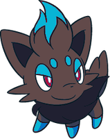 Shiny Zorua 2 by DigitalPokemonMaster
