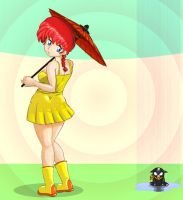 ranma summer rain by fragowa