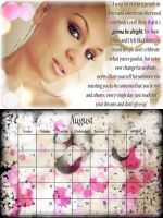 8X6 Jessie J August Calendar by CertainlyLostFameGal