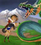 Dragon Hunting Partly Done by ArtistMaz