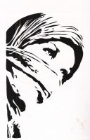 Hijab Girl Stencil by HeartThrobTawd
