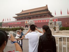 Chinese Tourists in Beijing by vanfoto