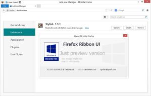 Firefox 31+ Ribbon UI Beta by luxorus