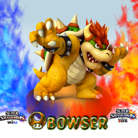 Super Smash Bros. Wii U/3DS-Bowser- Wallpaper by CrossoverGamer