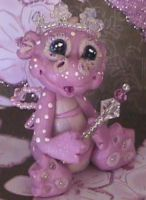 polymer clay princess dragon by crazylittlecritters