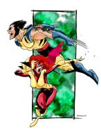 Wolverine and Jean Grey by Blindman-CB