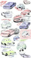 Sketch dump - cars by camaro1