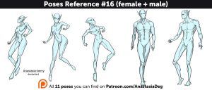 Poses Reference #16 (female + male) by Anastasia-berry