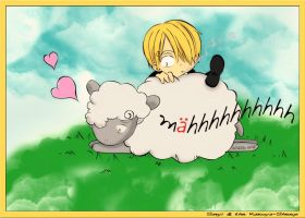 Sanji and the Kazuya-Sheep by lotras
