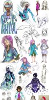 Sketch Dump: Iris Females by clemon