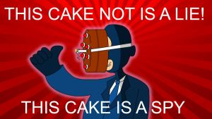 This cake not is a lie by PatoLarax