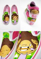 afro slip ons by Bobsmade