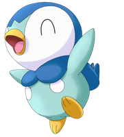 50 Pokemon #10-Piplup by MegBeth