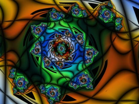 Stained-Glass Beyblade 1 by elemental-fire