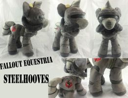 Fallout equestria Steelhooves plush by PlushyPuppy
