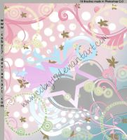 Swirl Stars Brushes by Coby17