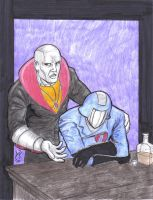 Destro and Cobra Commander by MichaelPowellArt