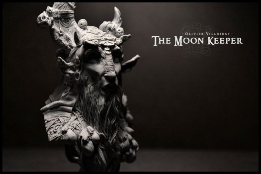 The Moon Keeper - resin bust by Olivier-Villoingt