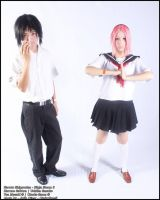 School Uniform -  Sasuke and Sakura by TeaMazaki