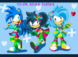 Team Neon Fusion Contest by Domestic-hedgehog