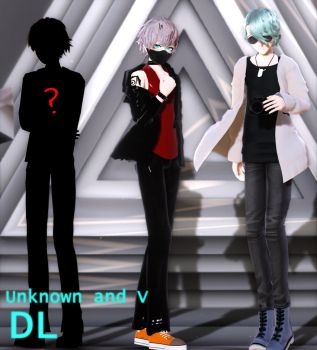 MMD Mystic Messenger Unknown and V DL by ZKArti