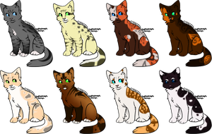 8 Cat Designs -CLOSED- by SpottedAdopts
