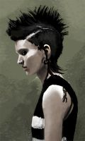Lisbeth Salander Speedpaint by GraceJensen