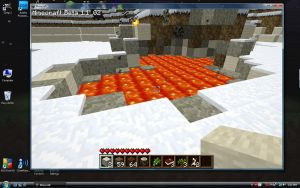 Minecraft: Surface Lava Pool by ZeroxOnxFire