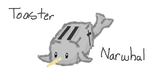 Toaster Narwhal by PuppyDawg1022